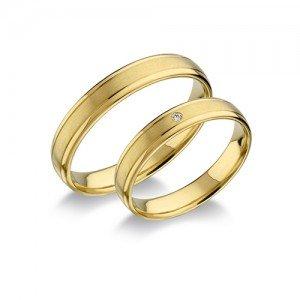 Visszafogottan elegáns arany karikagyűrű