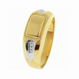 Arany kocka fejű gravírozható férfi pecsétgyűrű