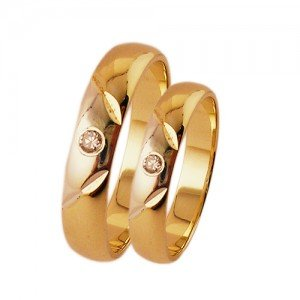 Magasfényű cirkónia köves arany karikagyűrű