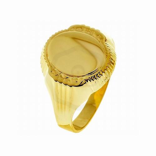 Arany női pecsétgyűrű gravírozható ovál fejrésszel