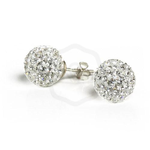 csipke fel költség varázsa legjobb Fehér gömb Swarovski köves ezüst fülbevaló – Ecsedi Ékszer