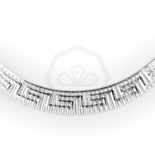 Vésett női lapos ezüst nyaklánc