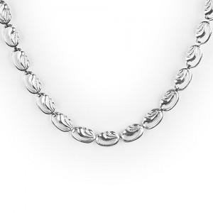 Vésett ezüst női nyaklánc, nyakék